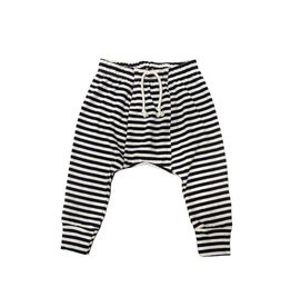 Go Gently Nation jersey harem pants- navy stripe