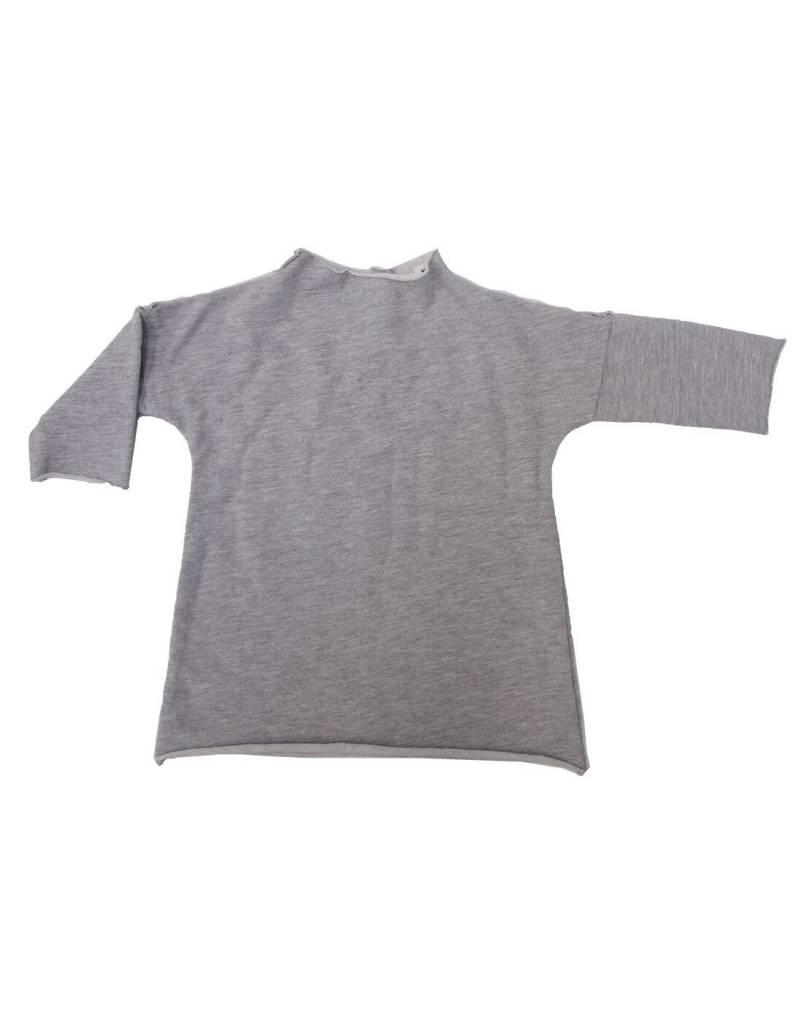Go Gently Nation baby pullover dress- heather grey