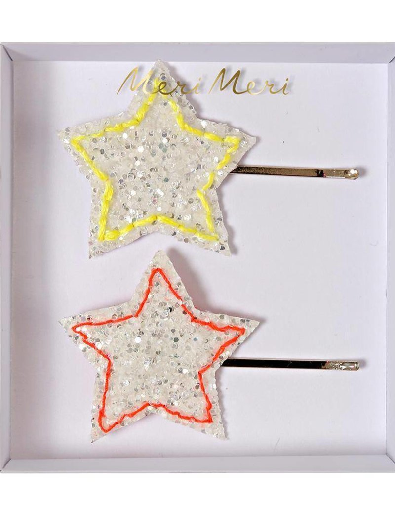 Meri Meri glitter star hairclips