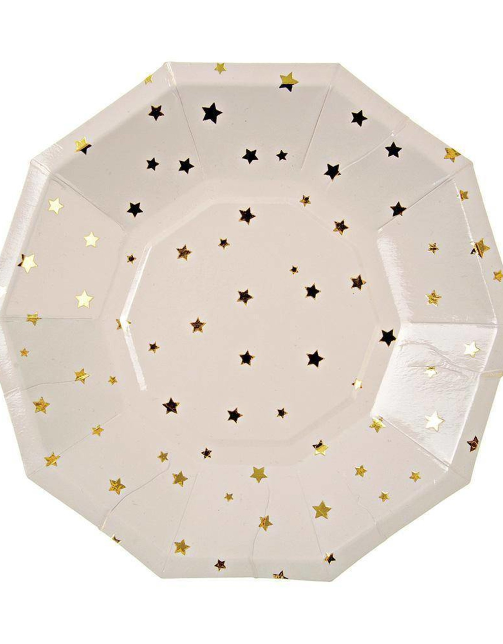 Meri Meri gold stars plates small