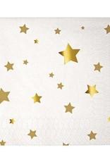 Meri Meri gold stars napkins small
