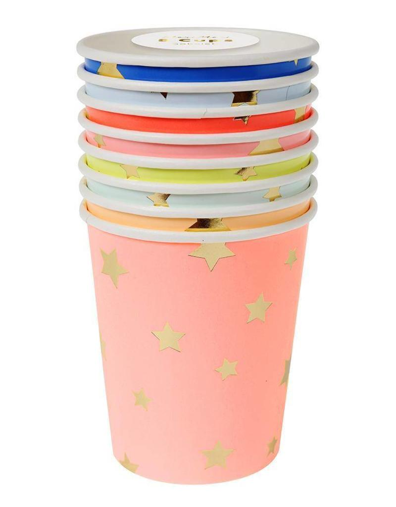 Meri Meri multi color stars party cups