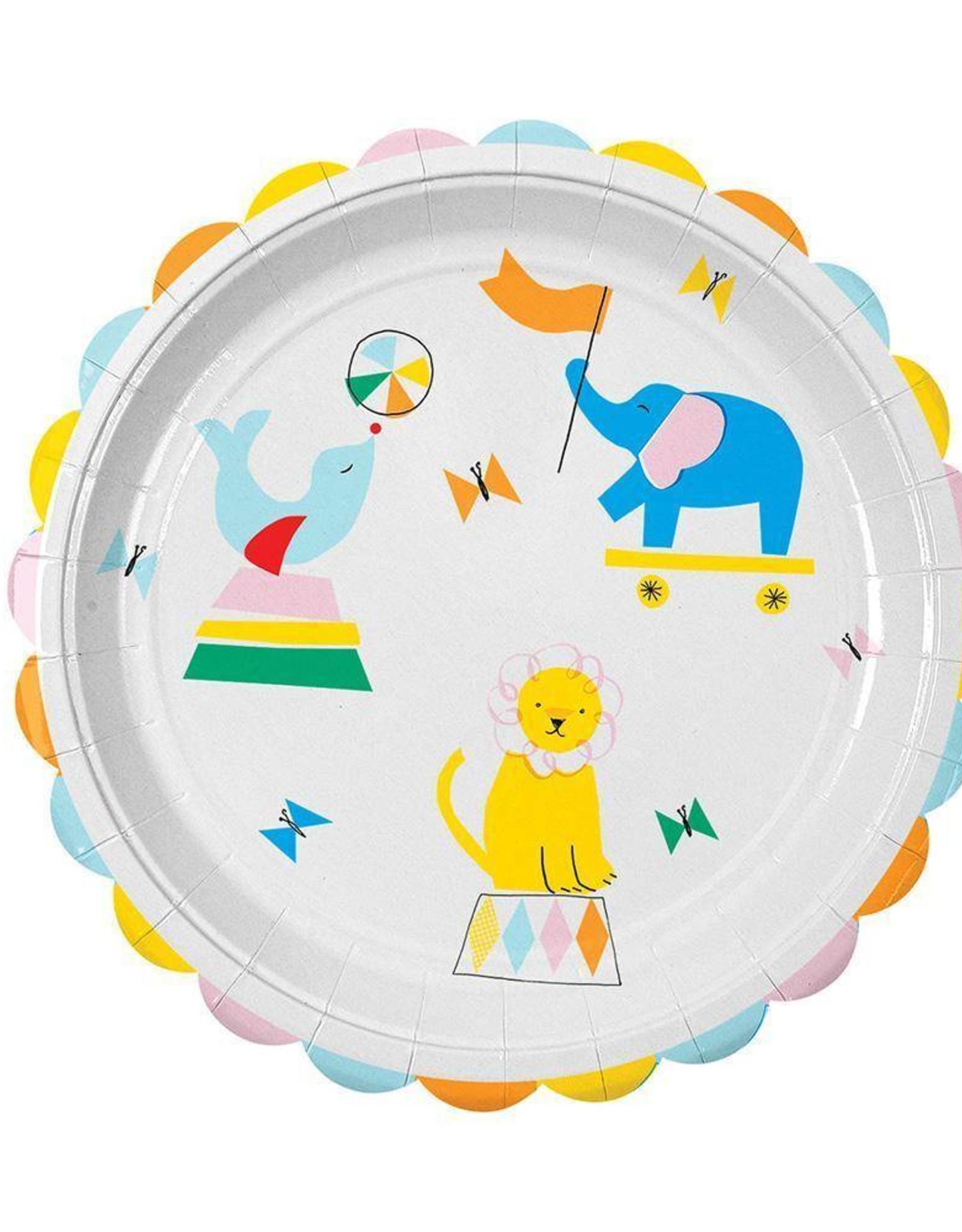 Meri Meri silly circus plates large