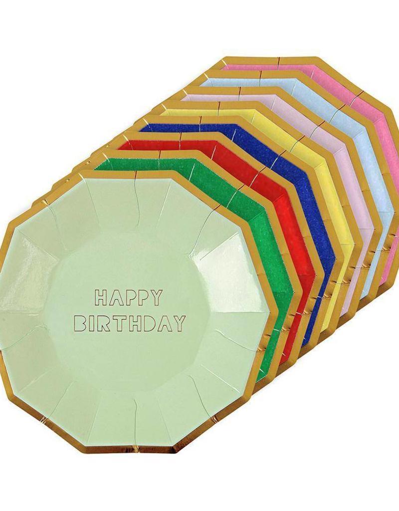 Meri Meri happy birthday plates small