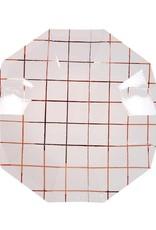 Meri Meri rose gold grid plates small