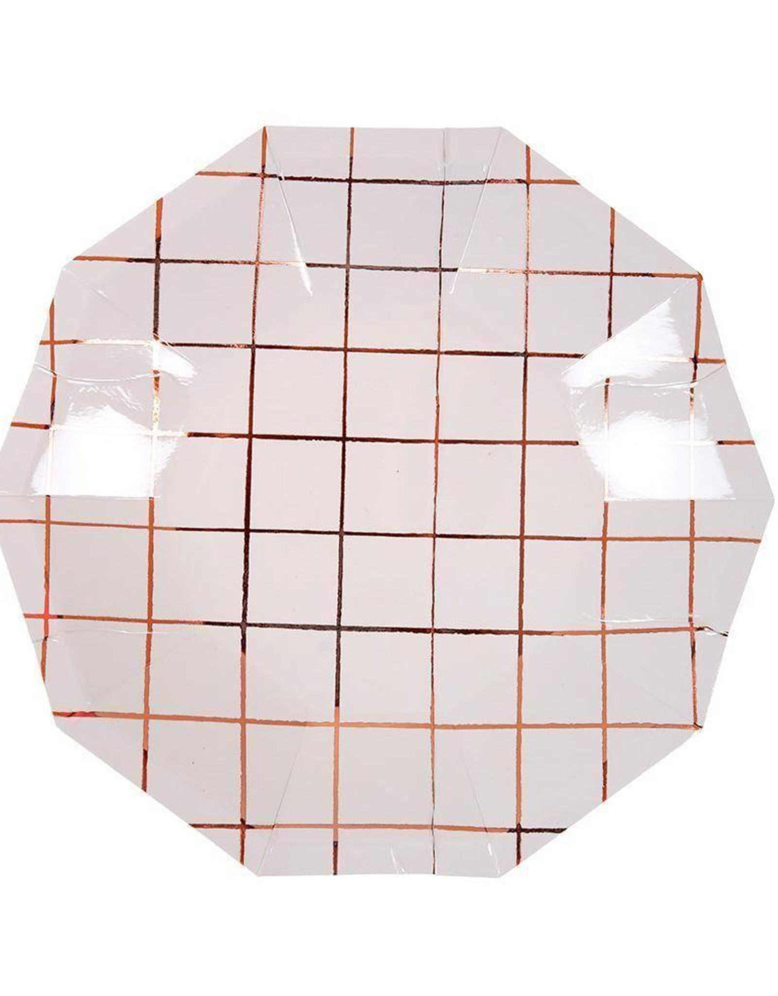 Meri Meri rose gold grid plates small