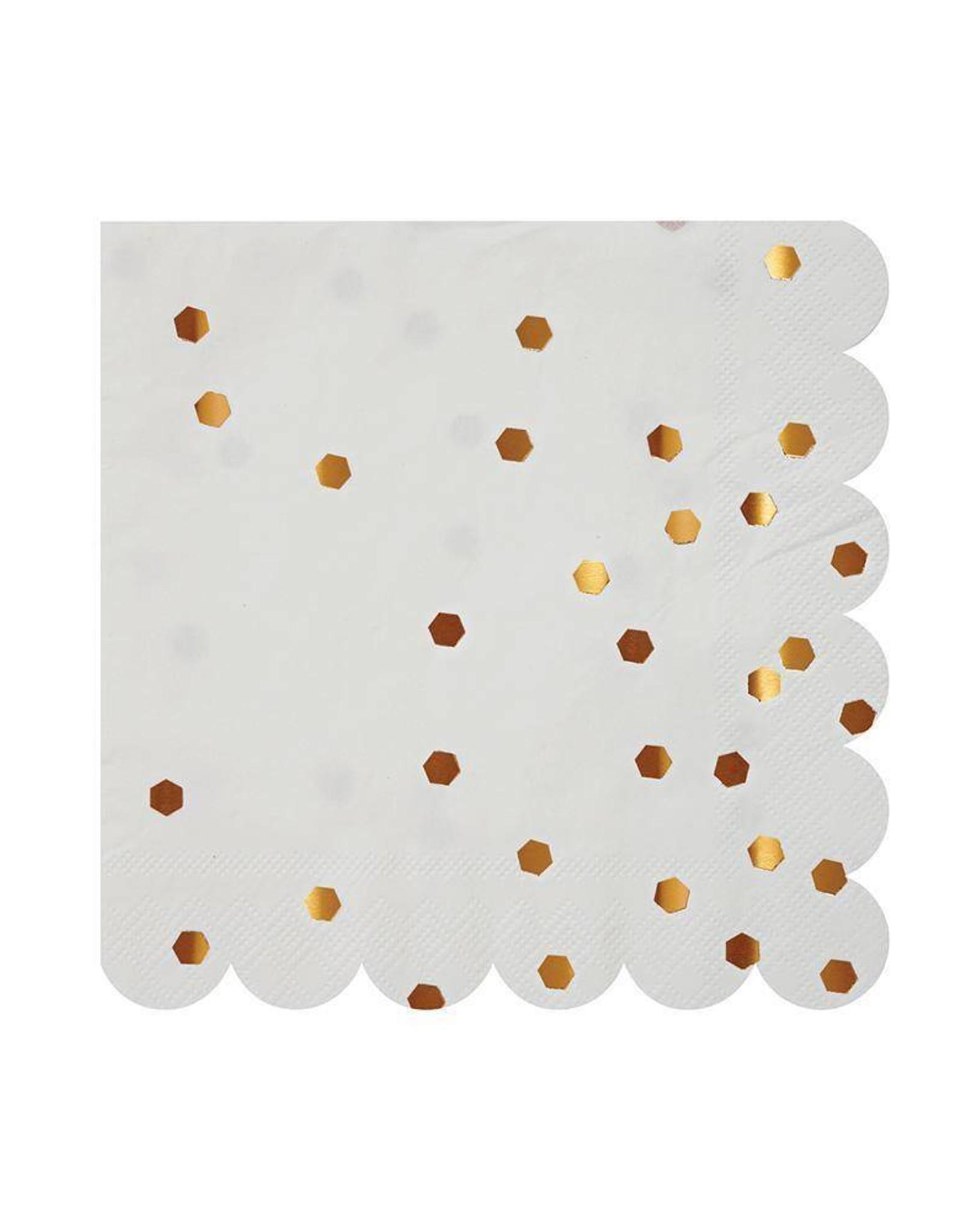 Meri Meri rose gold confetti napkins small