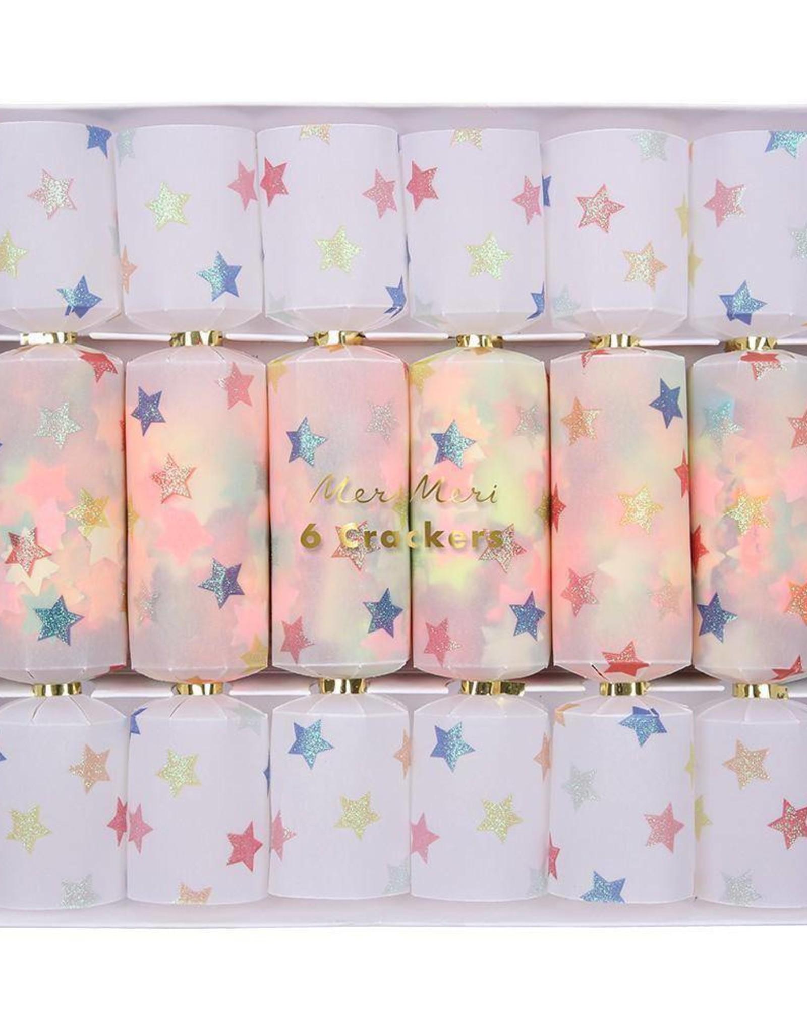 Meri Meri multi color star crackers