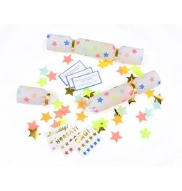 Meri Meri multi color star crackers