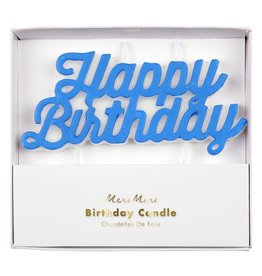 Meri Meri happy birthday candle- blue