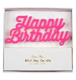 Meri Meri happy birthday candle- pink