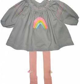Everbloom rainbow baby set- grey