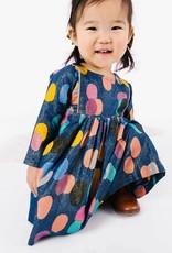 Pink Chicken bette dress- multicolor dot