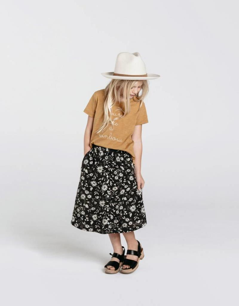 Rylee and Cru floral maxi skirt- midnight