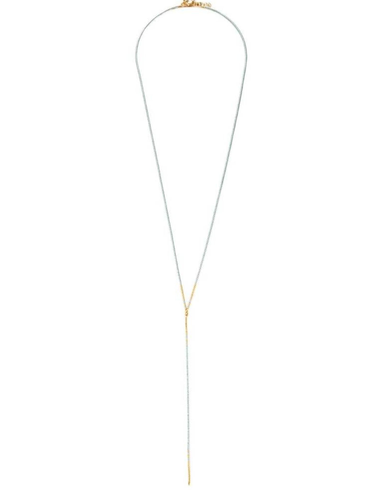 Shashi Krysty Delica Lariat Grey Necklace