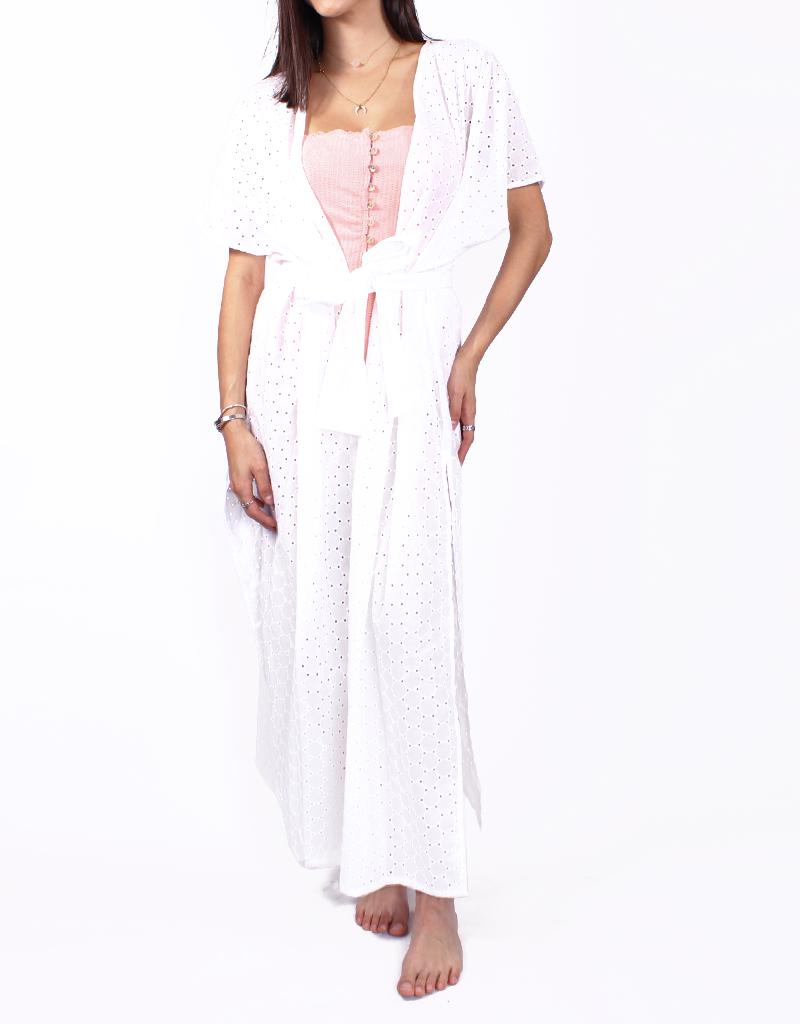 f1fe6650e Paolita Core White Maxi Kimono S - Sal de Mar