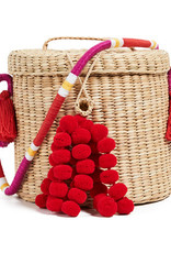 Nannacay White Strap Multi String Red Ana Bucked Bag