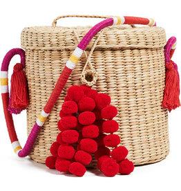 Nannacay White Strap Multi String Red Ana Bucked Bag