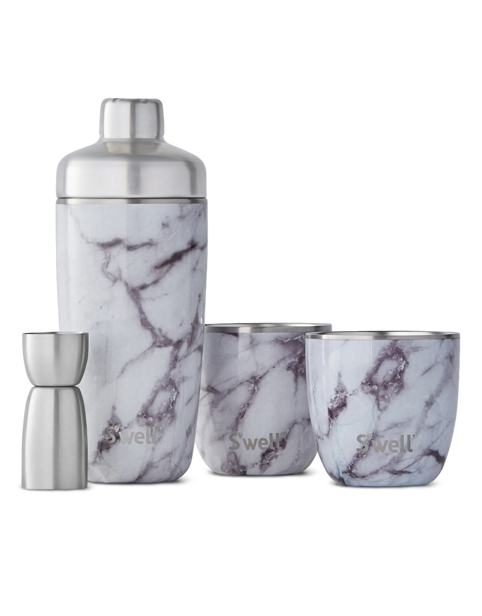 Swell White Marble Cocktail kit
