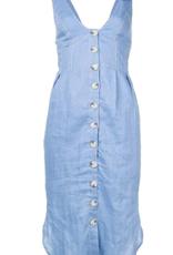 Suboo Azure Tie Shoulder Midi Dress 4