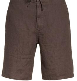 Onia Charcoal Max Drawstring Linen Shorts