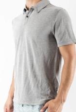 Onia Charcoal Bias Stripe Alec Polo Shirt