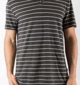 Onia Black Pinstripe Shaun Polo Shirt