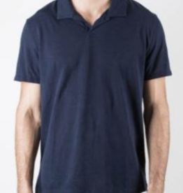 Onia Solid Deep Navy Shaun Polo