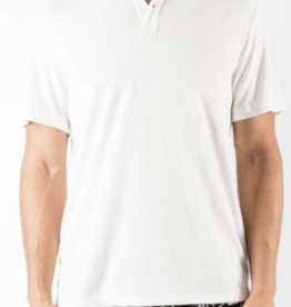 Onia Alec Reversed White Terry Polo Shirt