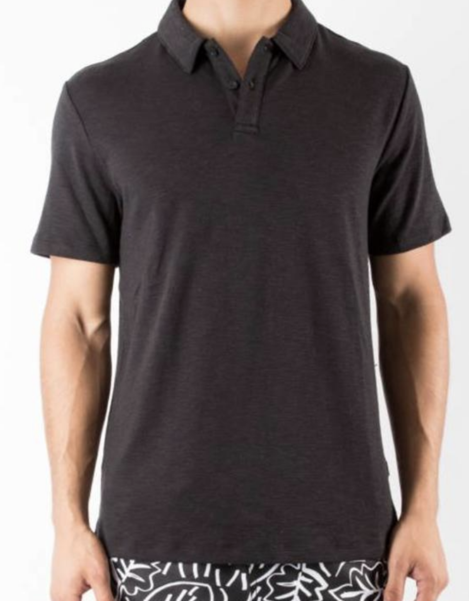 Onia Solid Black Alec Terry Polo