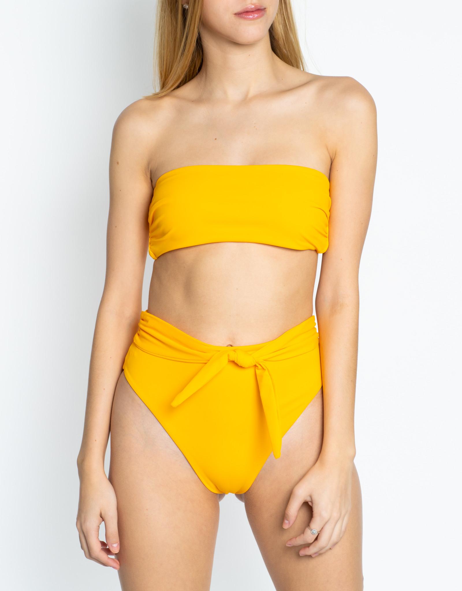 Mara Hoffman Yellow Abigail & Goldie Bikini