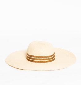 Hat Attack Natural / Copper Mettalic Inset Stripe Sunhat