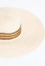 Hat Attack Natural / Copper Mettalic Inset Stripe Sunhat