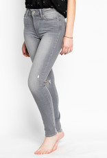 Paige Hoxton Ankle  Destructed Stone Grey Skinny Jeans