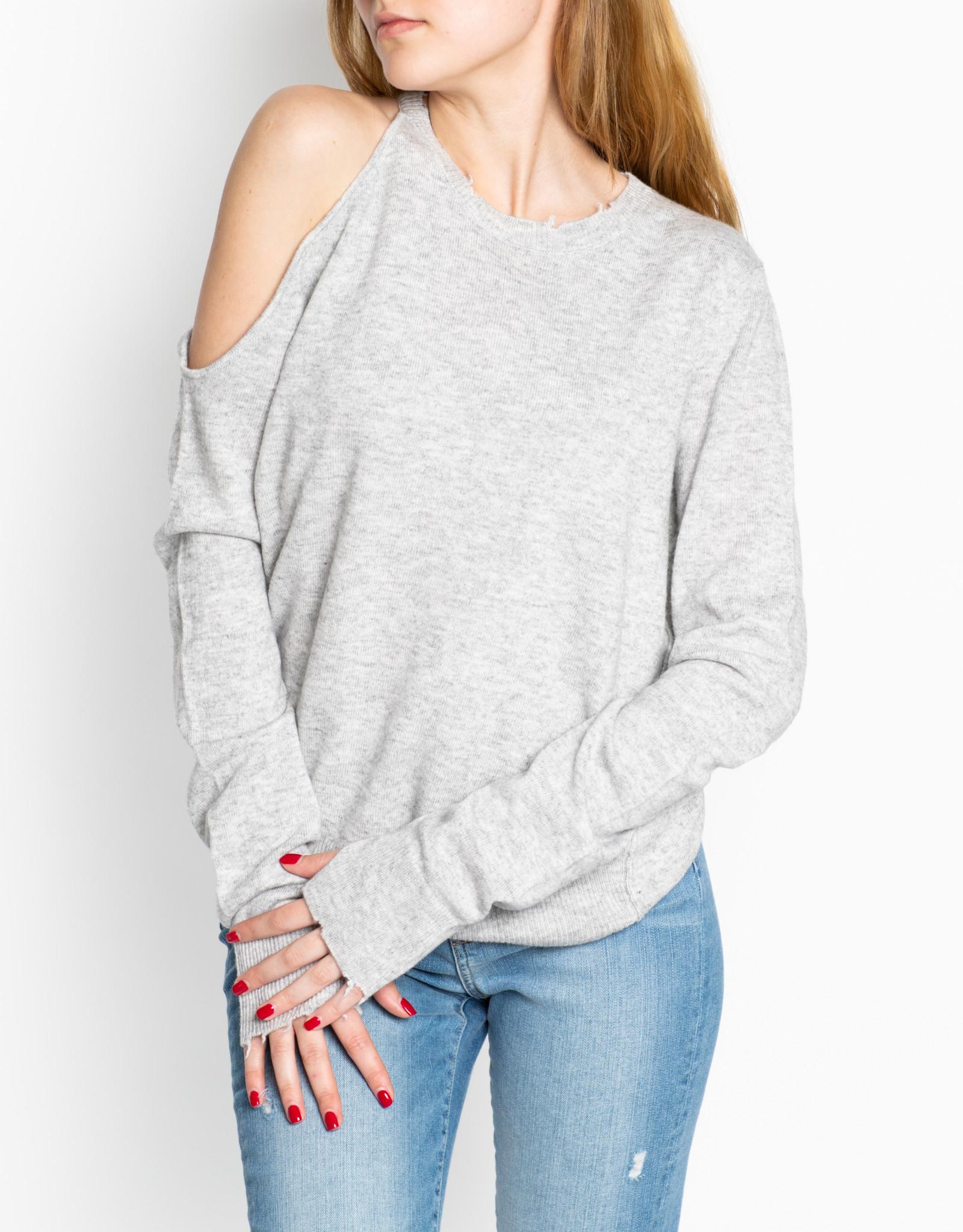 Pam & Gela Asher Cold Shoulder Crew Neck Sweater