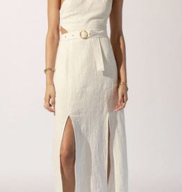 Suboo White Kaia Bamboo Ring Asymmetrical Dress