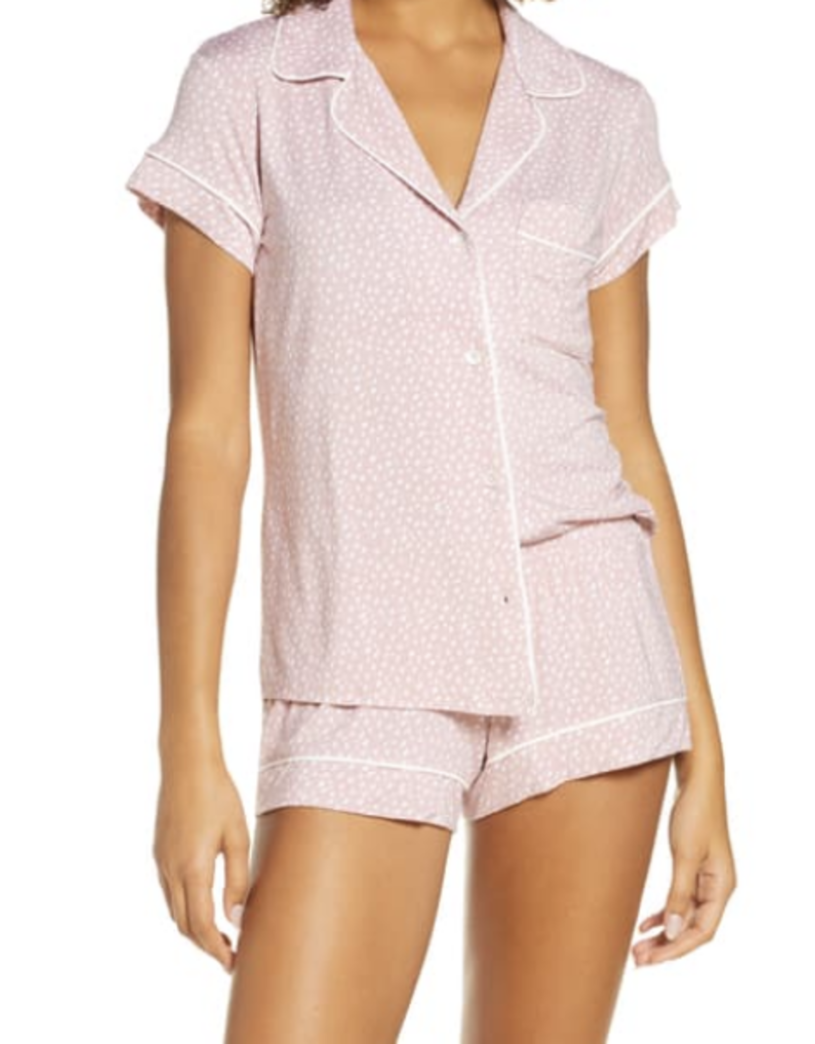 Eberjey Felix Misty Rose/Ivory Sleep Chic The Short PJ