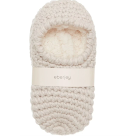 Eberjey White Sand Ankle Slipper Sock