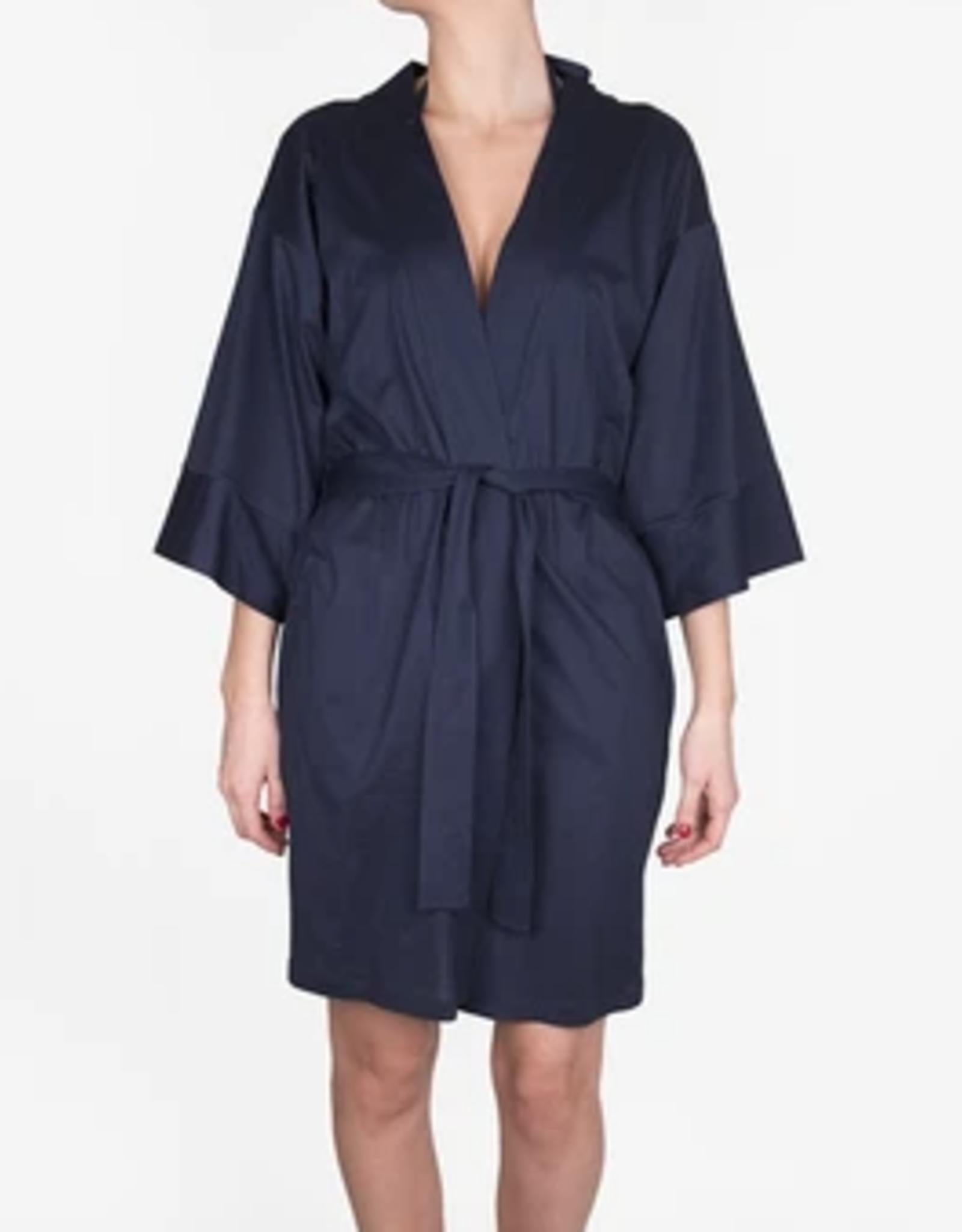 Shan Navy Balnea Doux Confort Kimono Cover Up