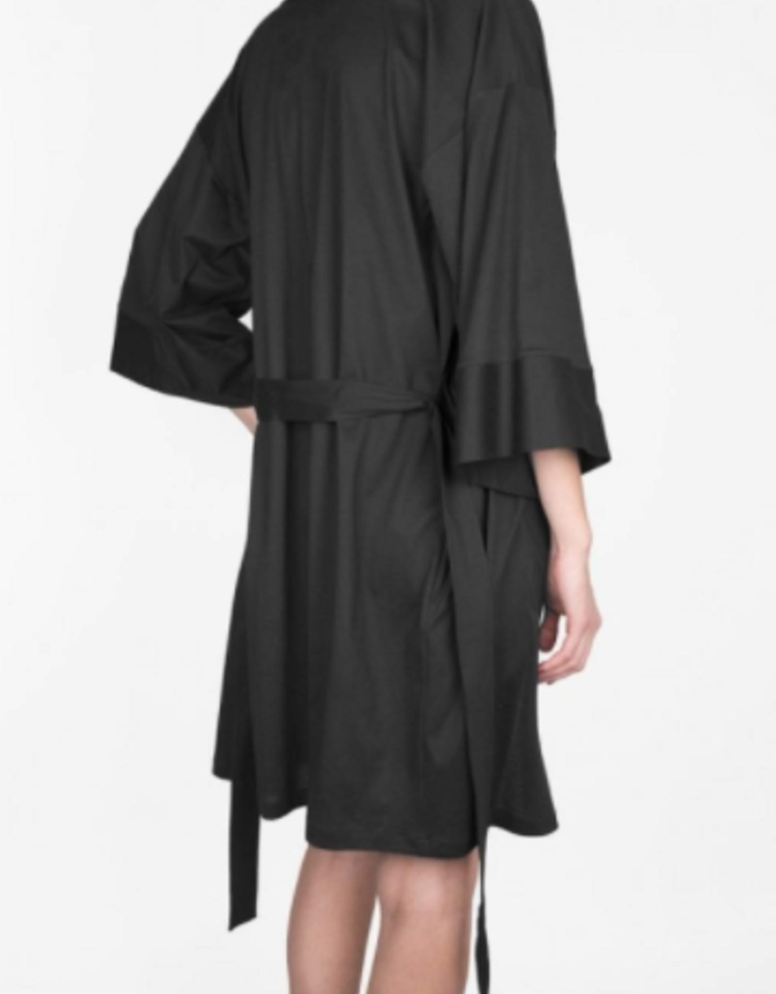 Shan Onyx Black Balnea Doux Confort Kimono Cover Up