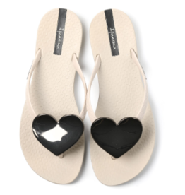 Ipanema Beige Wave Heart Sandals