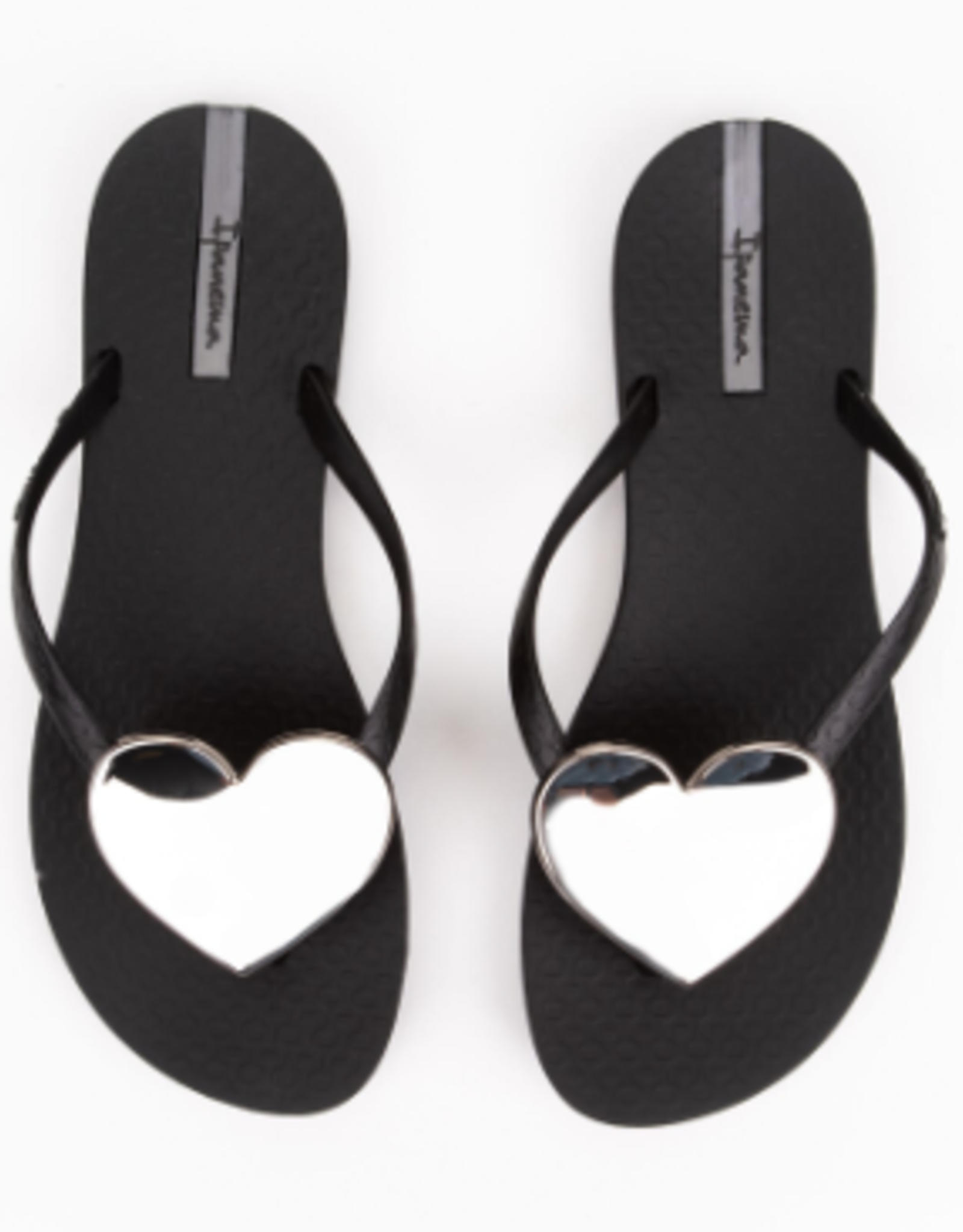 Ipanema Black/Silver Wave Heart Sandals