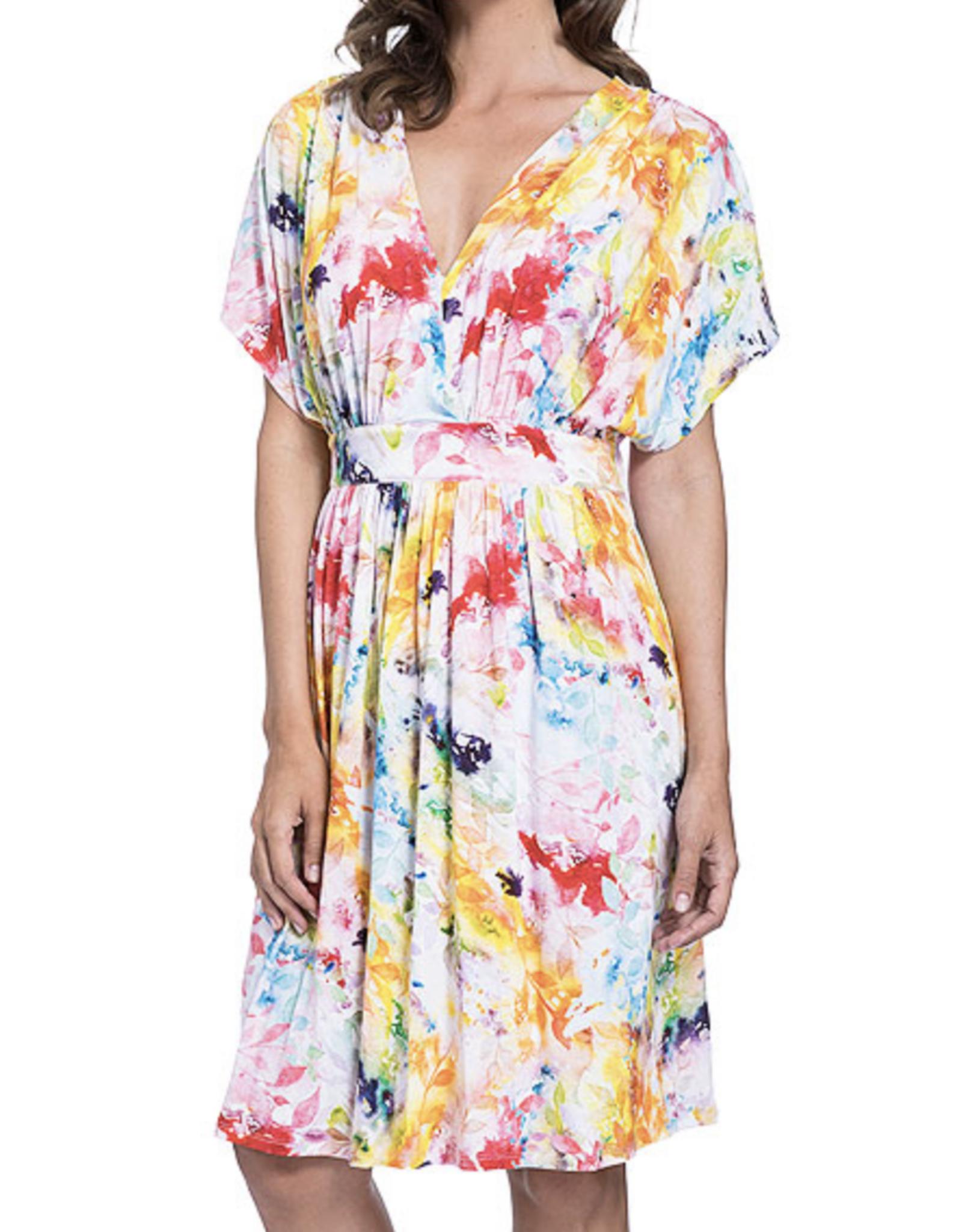 Gottex Multi Yellow Aquarelle Dress