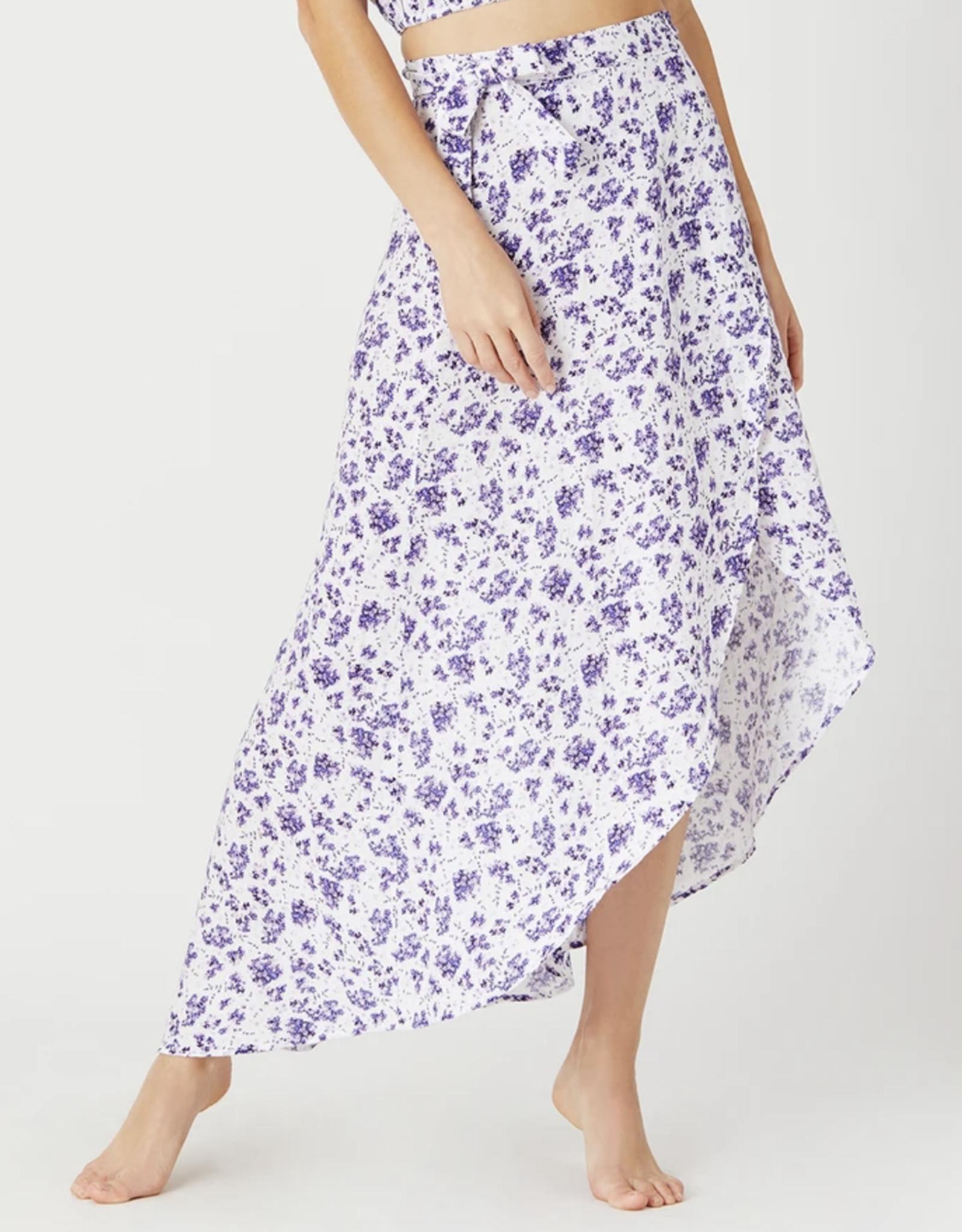 Onia Lavender White Amanda Wrap Skirt