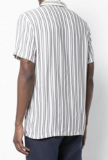Onia Deep Navy/Natural Vacation Shirt Tulum Stripe