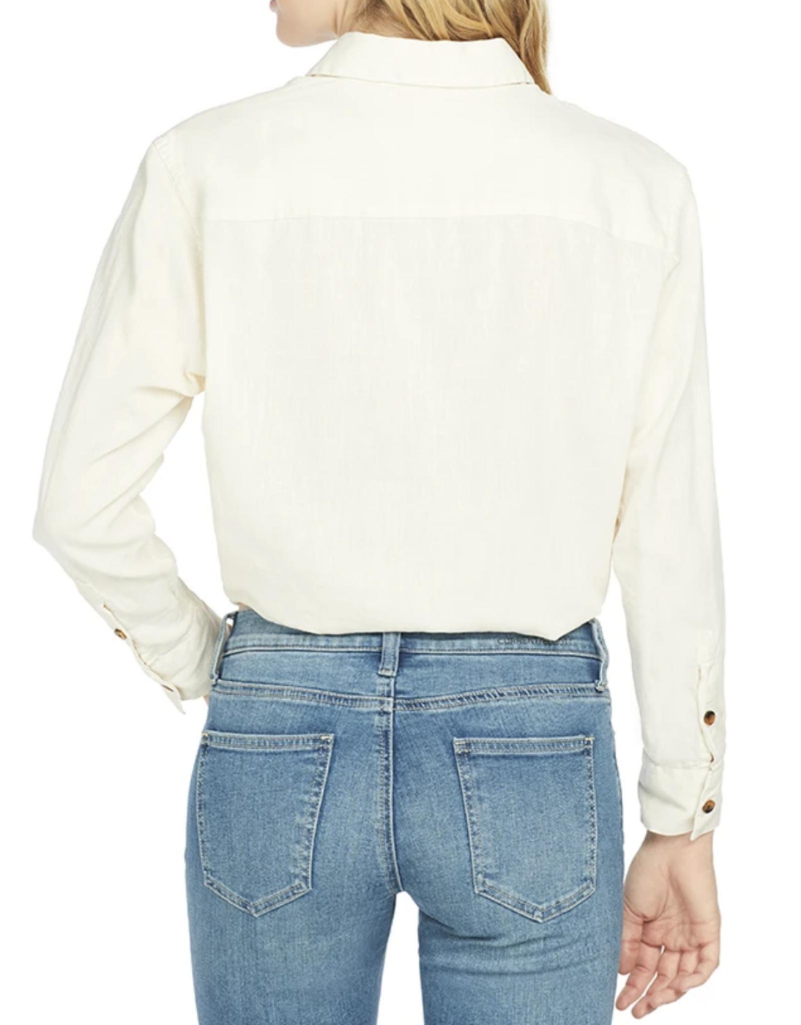 Solid & Striped Cream Linen Button Down Shirt
