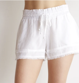 Bella Dahl White Frayed Hem Pocket Short