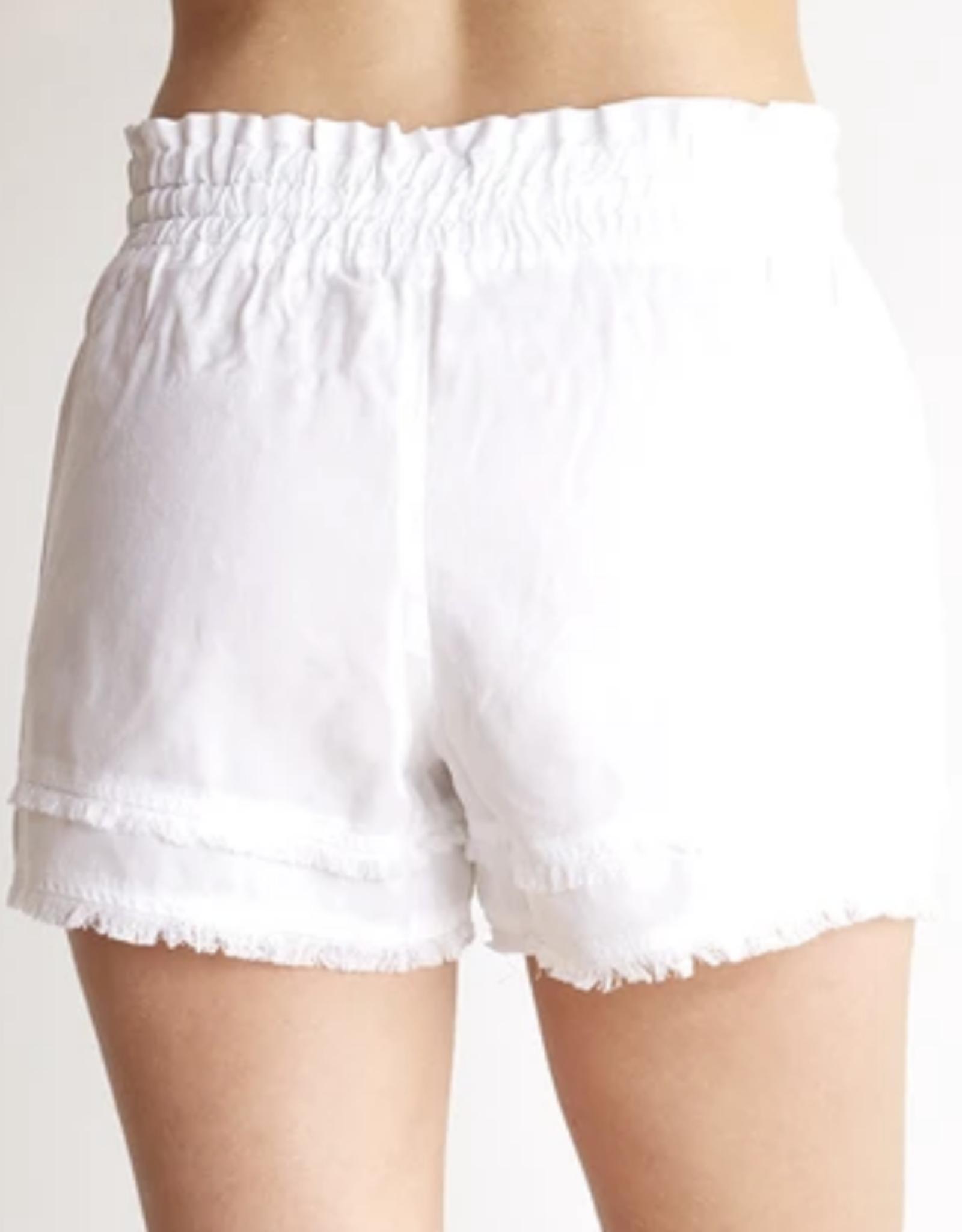 Bella Dahl White Frayed Hem Pocket Short