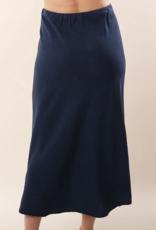 Bella Dahl Sea Port Navy  Bias Midi Skirt