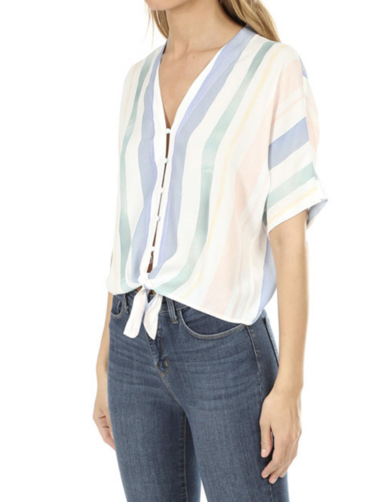 Rails Pastel Watercolor Stripe Thea Shirt